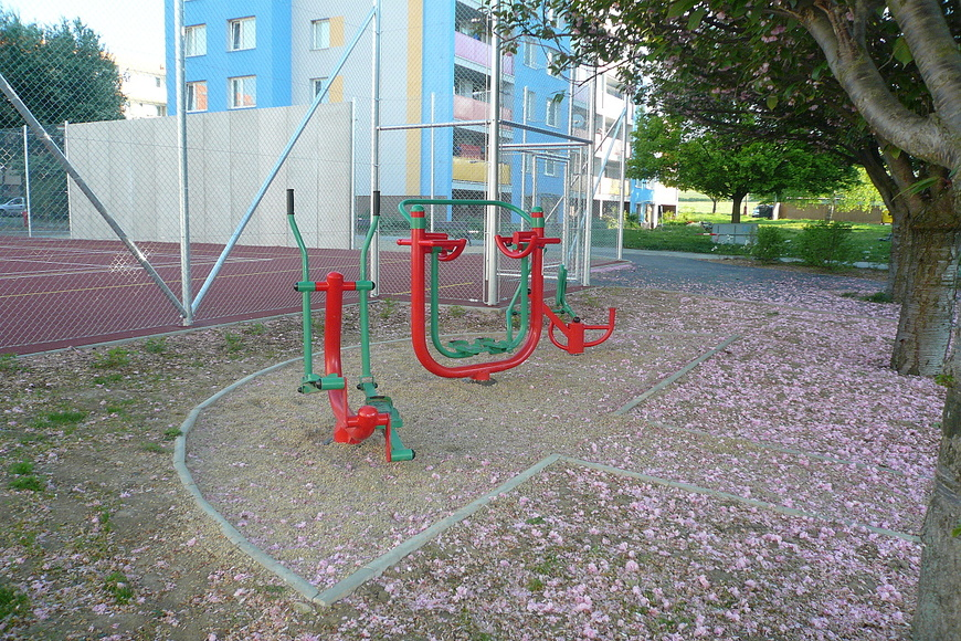 Dětské hřiště - Vostrov vnitroblok Opletalova ulice (3)